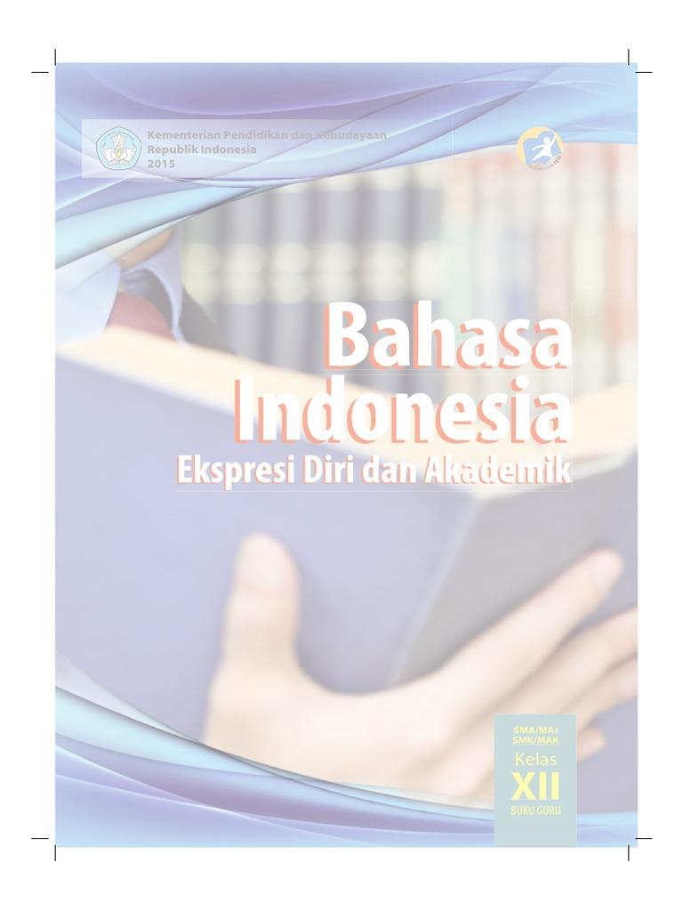 Buku Pegangan Guru Bahasa Indonesia SMA Kelas 12
