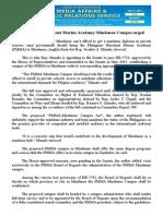 nov27.2015 bA Philippine Merchant Marine Academy-Mindanao Campus urged