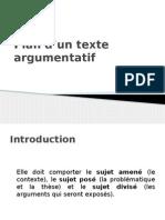 Plan d'Un Texte Argumentatif