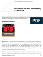 How Can I Remove Win32_Grenam.a Permanently - Win32_Grenam