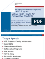 Virtual Open House Prospective Students October 22 2015