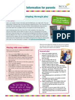 Tip-sheet on Play Parents of Toddlers