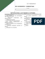 Reporte Académico -2015