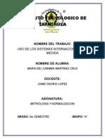 Uso de Los Sist. Inter. de Medida (Metrologia)