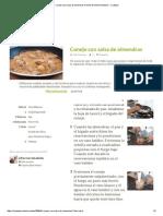 Conejo Con Salsa de Almendras Receta de Elfornerdealella - Cookpad