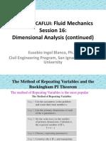 Análisis dimensional II - Mecánica de Fluidos
