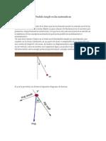 Péndulo Simple en Las Matemáticas