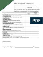 Short Evaluation Form