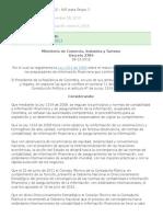 Decreto 2784 Colombia