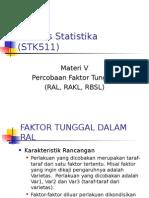 Materi v-Percobaan Faktor Tunggal