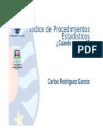 P.P. N° 08 Indice de Procedimientos Estadísticos