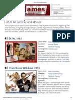 List of All James Bond Movies
