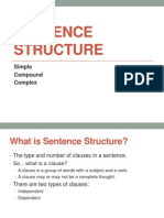 sentence structure for website
