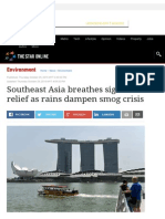 Southeast Asia Breathes Sigh of Relief as Rains Dampen Smog Crisis - Environment _ the Star Online