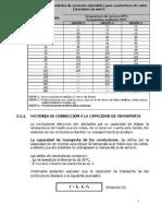 Factores de CorreccionCNE-MT 15260