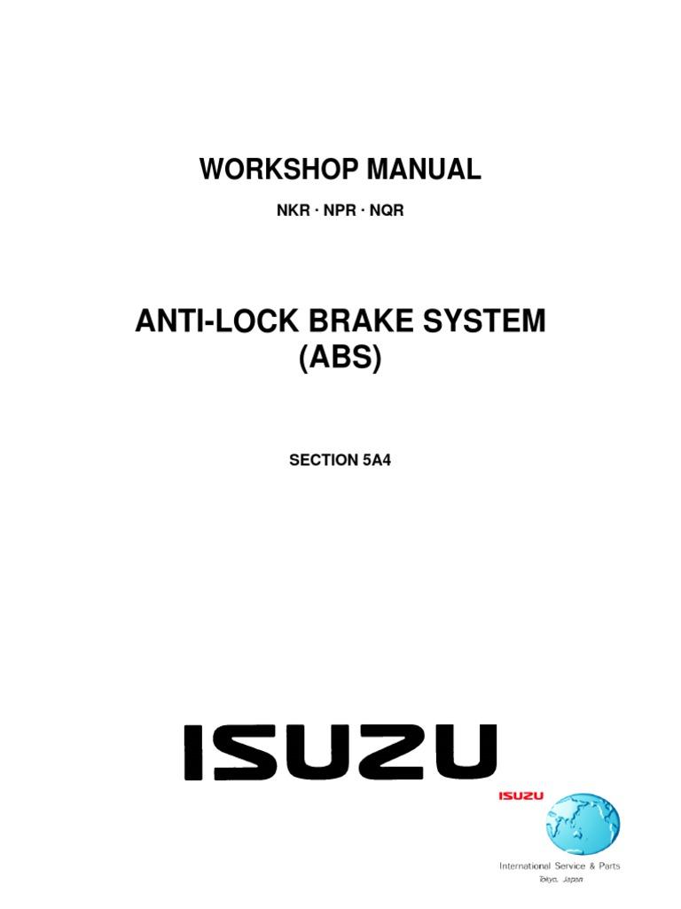 isuzu elf n series service repair manual 1999 2002