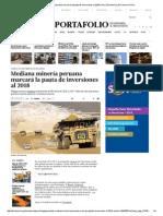 Mediana Minería Peruana Marcará La Pauta de Inversiones Al 2018