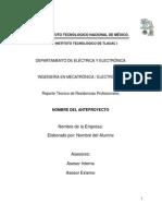 Reporte Técnico Mecatrónica