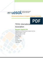 2014 Tesol Research Agenda