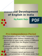 Historical Development of English in India-ppt