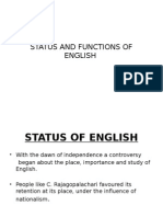 Status and Functions of English