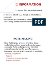STORING INFORMATION Note Mak,Note Tak,Summari
