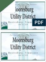 banner mooresburg utilitydistrict