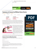 Summary of Leisure by William Henry Davies – Myeduz
