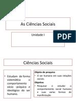 As Ciências Sociais