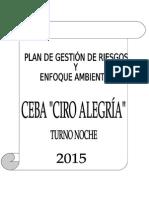 Plan de Gestin de Riesgos y Enfoque Ambiental 2014, Avance Sara