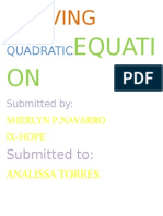 Solving Quadraticequation