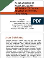 Penggunaan Bahasa Indonesia Di Lingkup Mahasiswa Institut Teknologi