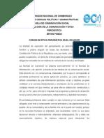 Código de Ética Periodística Del Ecuador Larrea