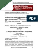 Ley de Justicia de Adolescentes en Distrito Federal