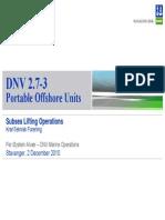 DNV 2.7-3 - PortableOffshoreUnits - SubseaLiftingOps