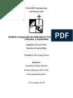 Análisis Comparada de Indicadores Fiscales Entre El Salvador y Guatemala