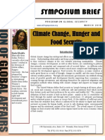 Climate Change, Hunger and Food Security