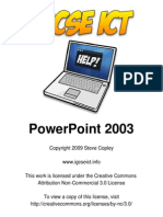 PowerPoint 2003 for IGCSE ICT