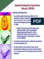 Budget Operations Manual for LGU's
