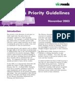 Bus Priority Guidelines Nov 2003