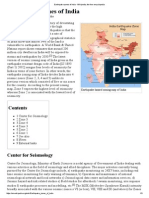 Earthquake Zones of India