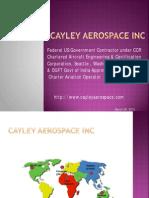 Cayley Aerospace Capabilities 2013