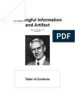 Meaningful Information and Artifact