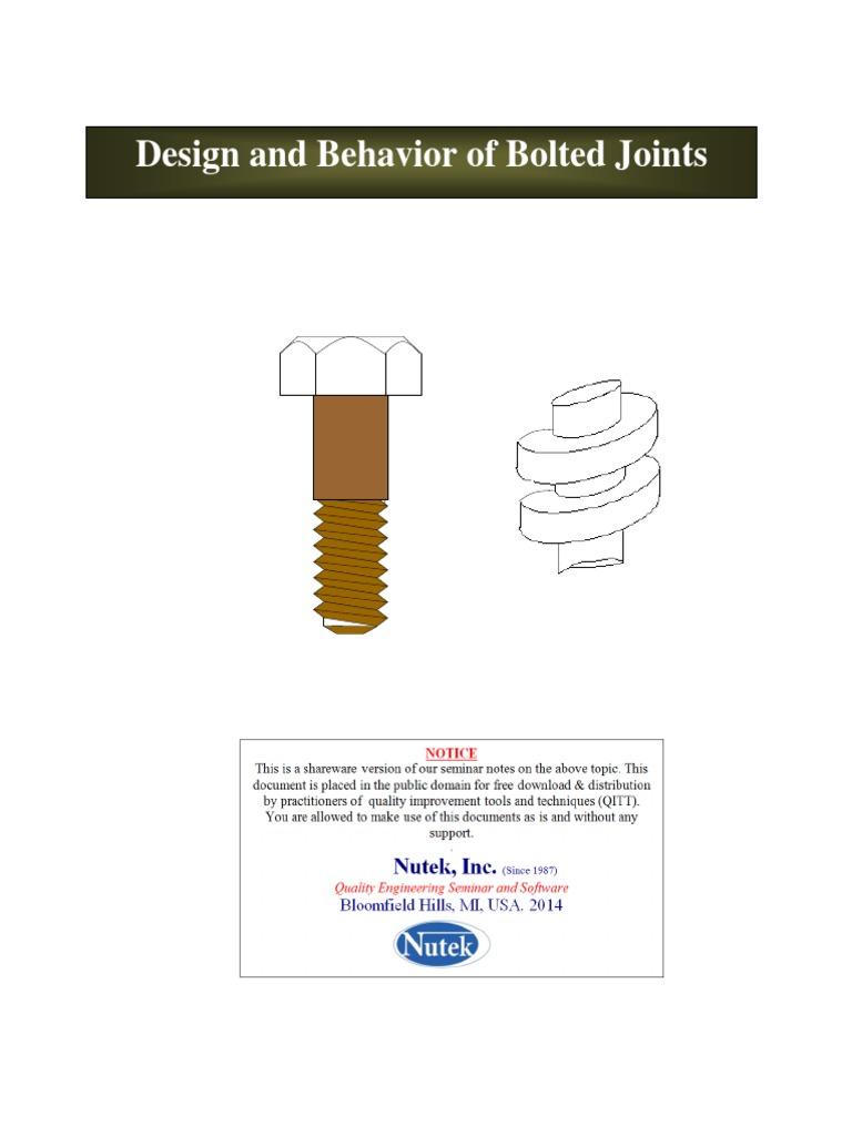 Qitt06 Bolted Jointspdf Deformation Engineering Screw Tbb Heated Mirror Wiring Diagram