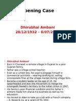 Case - Dhirubhai Ambani