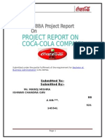 Coca Cola Project Mba