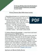 Books for TNPSC