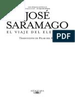Jose Saramago El Viaje Del Elefante