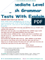 Intermediate Level Grammar Tests With Explain