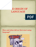 Origin of Language